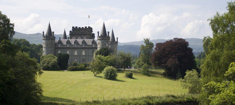 Inveraray Castle on Loch Fyne