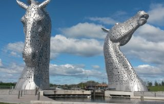 The Kelpies, modern art installation near Falkirk