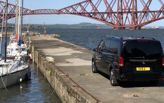 Mercedes Minivan and Forth Railway bridge