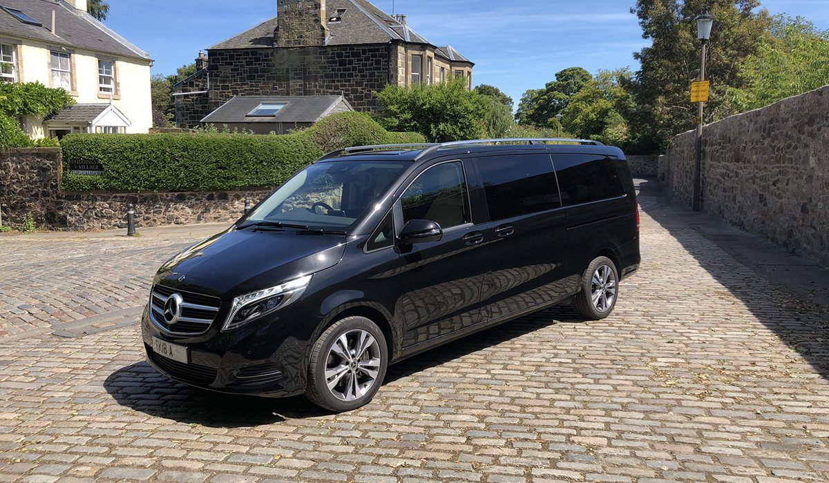 Mercedes private tour van in Duddingston Village