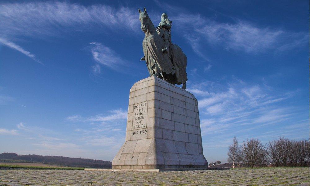 Statue of Robert the Bruce at Bannockburn