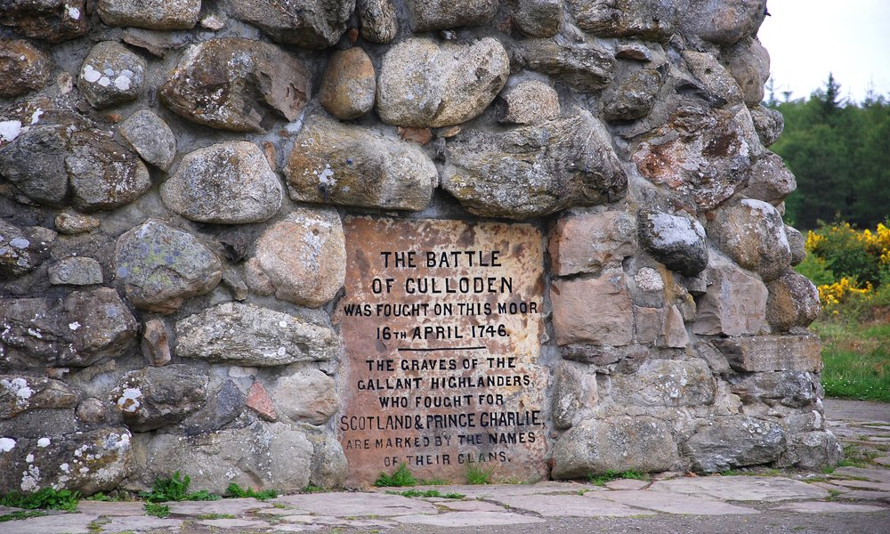 Cairn at The Battle of Culloden field