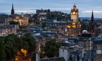 View over Edinburgh at dusk