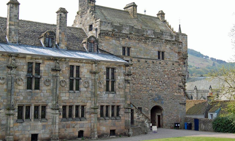 The rear of Falkland Palace