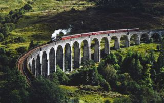 Glenfinnan Viaduct and Jacobite steam train