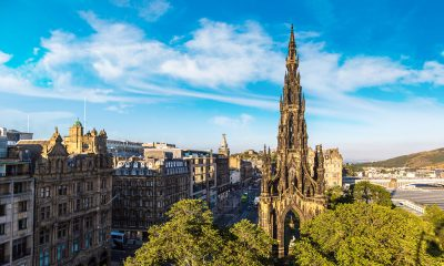 View over Scott Monument and Princes Street
