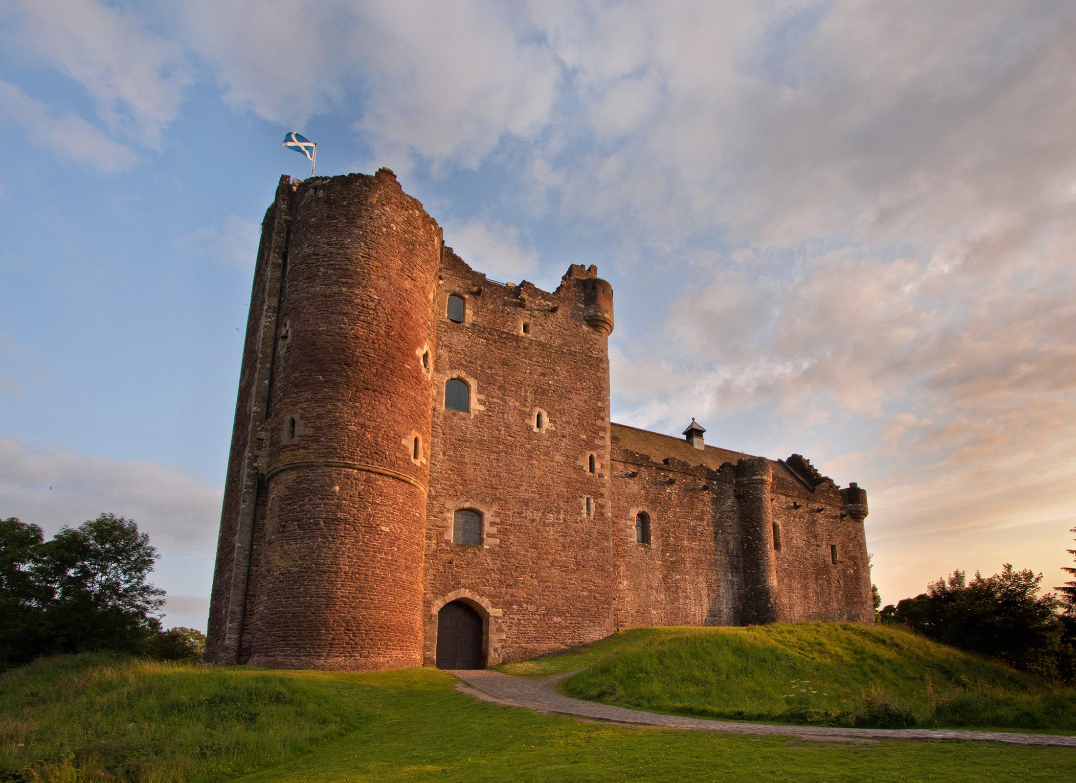 Doune Castle at dusk