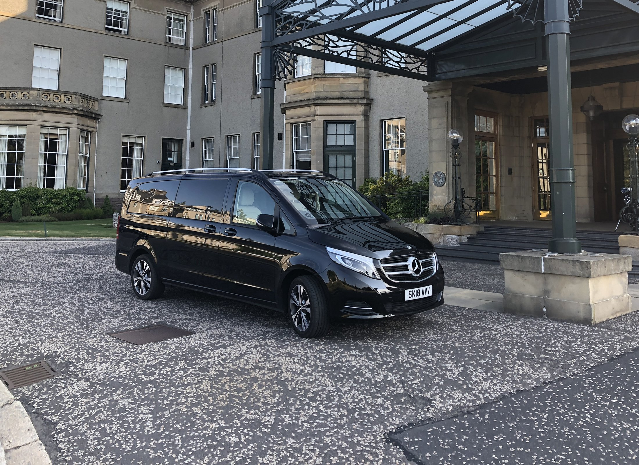 Mercedes V Class at Gleneagles Hotel