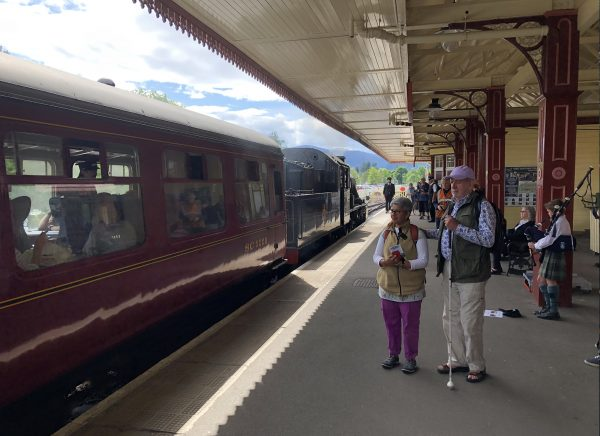 Strathspey steam train at Aviemore station