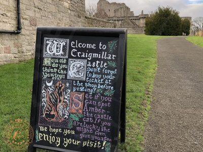 Welcome to Craigmillar Castle sign