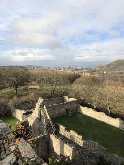 View from Craigmillar Castle over Edinburgh