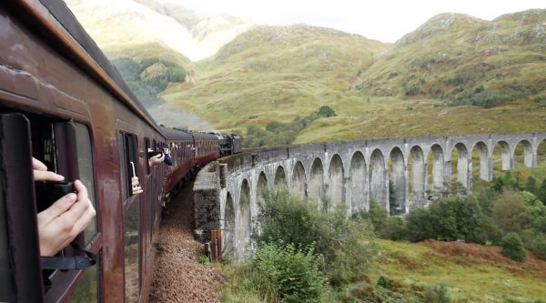 Glenfinnan Viaduct from the Jacobite train