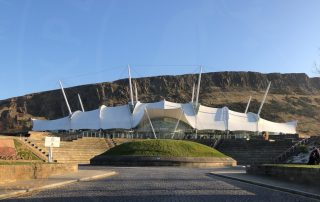 Dynamic Earth Building and Salisbury Crags beyond