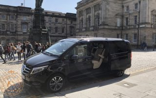 Mercedes V Class Minivan on Royal Mile