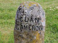 Clan Cameron gravestone at Culloden Battlefield