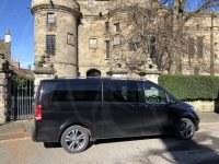 Tour van outside Falkland Palace