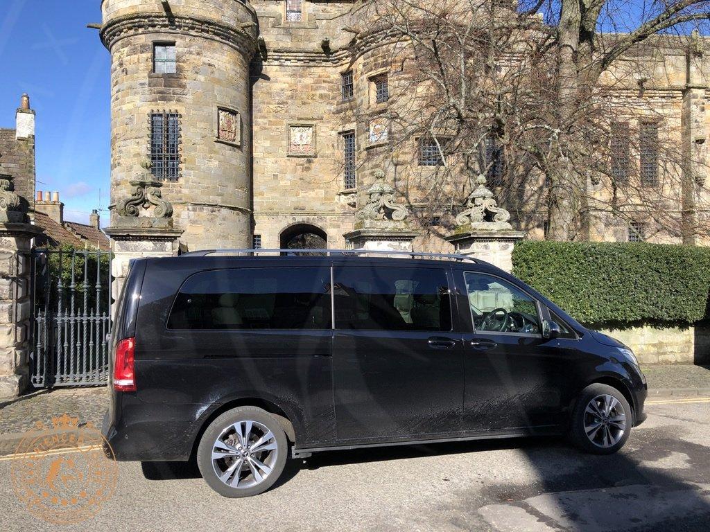 Tour van outside Falkland Palace