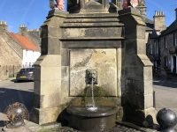 Falkland Mercat Cross fountain