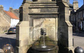 Falkland Mercat Cross fountain