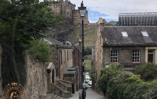 View down 'The Vennel' Edinburgh