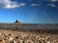 Lindisfarne Castle from pebble beach