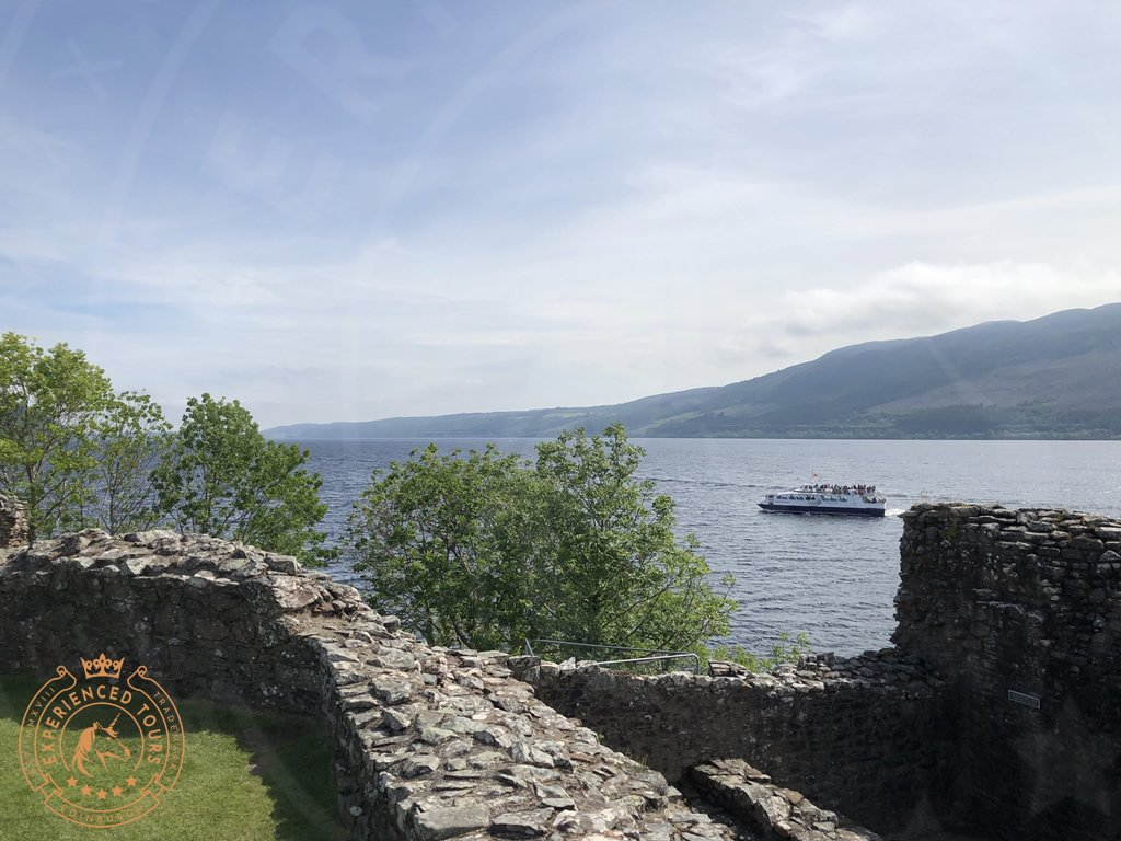 Urquhart Castle with Jacobite Cruise boat