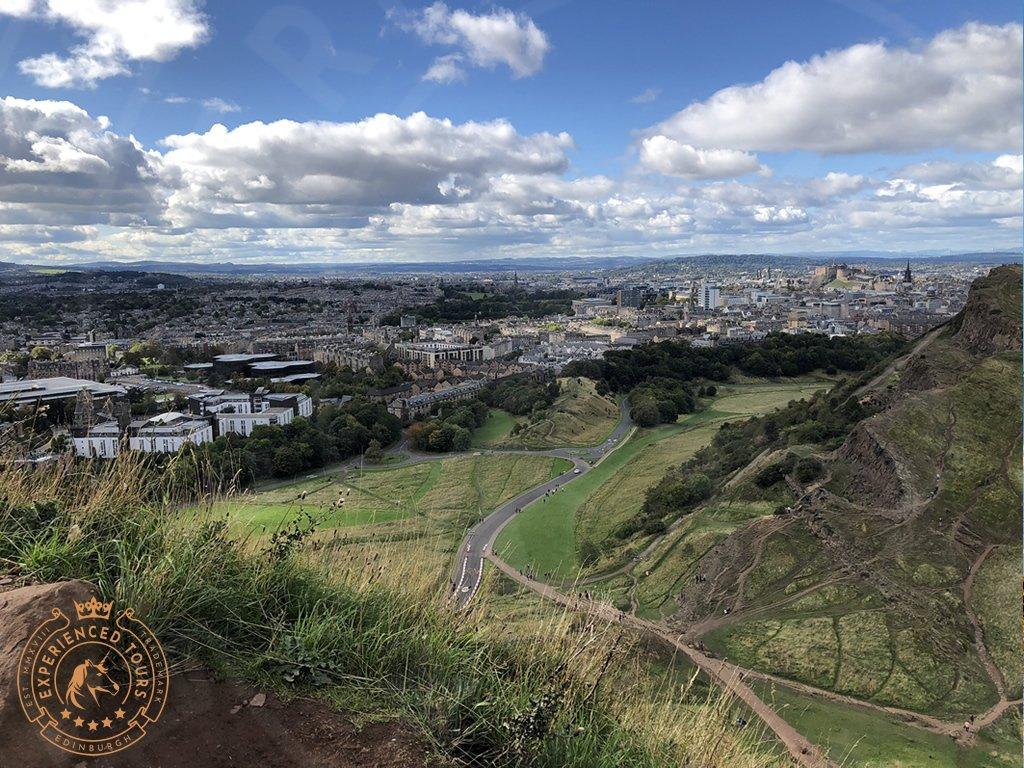Edinburgh city view from Arthur's Seat
