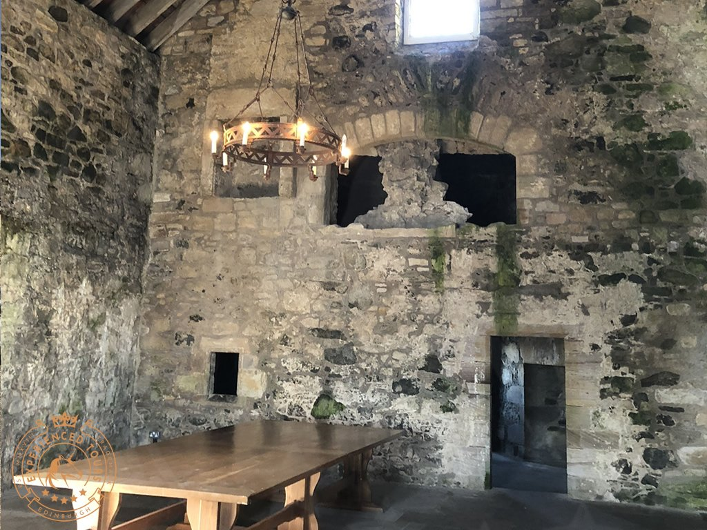 The hall at Blackness Castle
