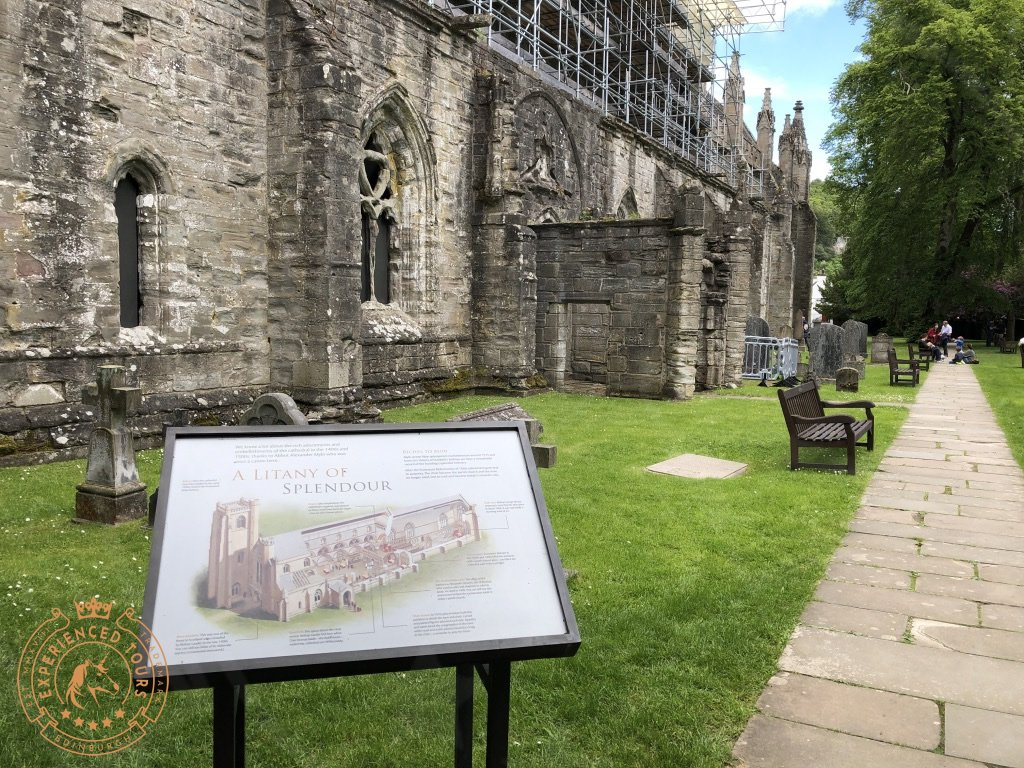Dunkeld Cathedral sign view