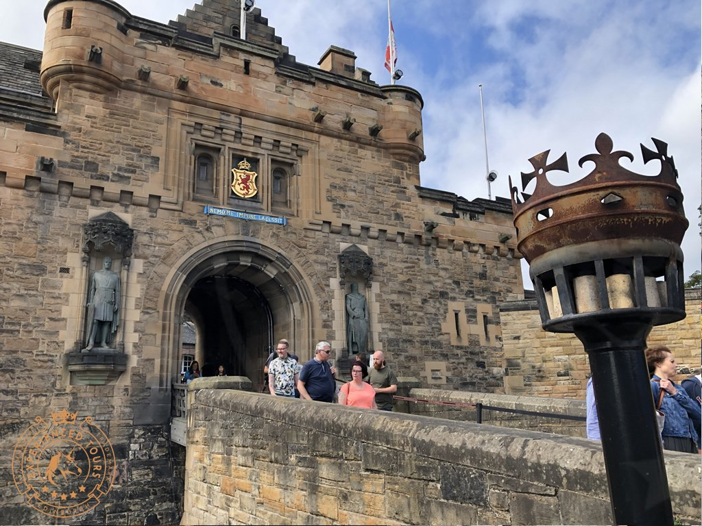 The main Entrance to Edinburgh Castle