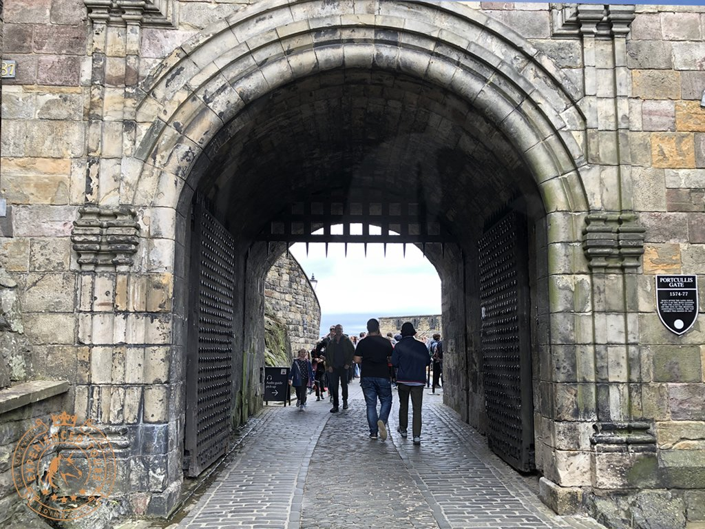 The Portcullis gate at Edinburgh Castle