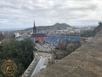 Tattoo Grandstand from Edinburgh Castle