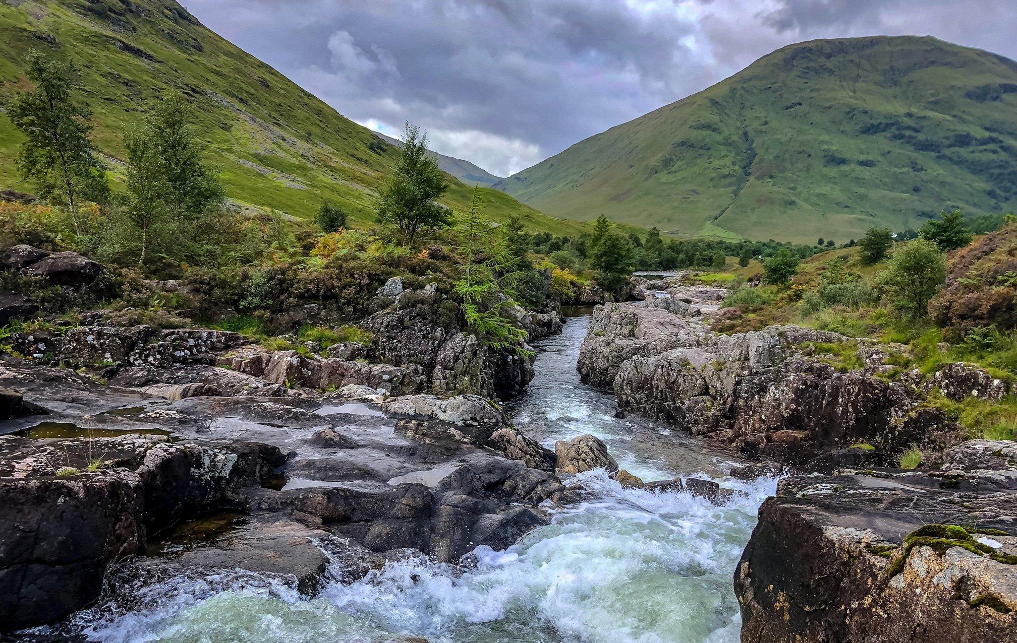 River running through Glencoe