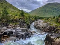River running through Glencoe
