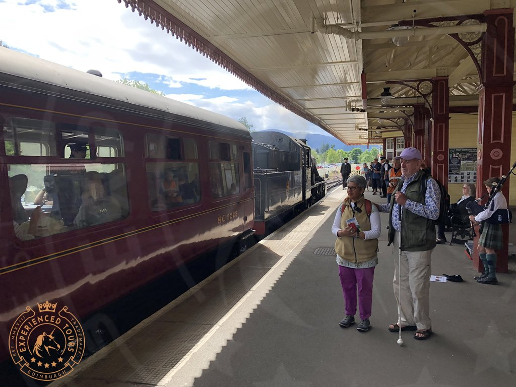 Steam Train in the Highlands of Scotland