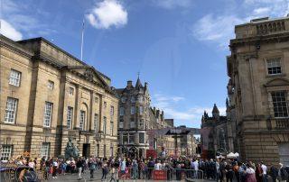 The Edinburgh Fringe Festival on Royal Mile