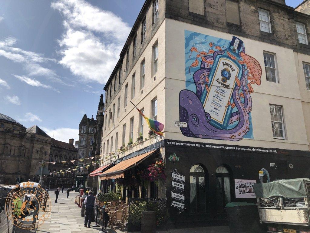 Bombay Sapphire Gin street art in Edinburgh