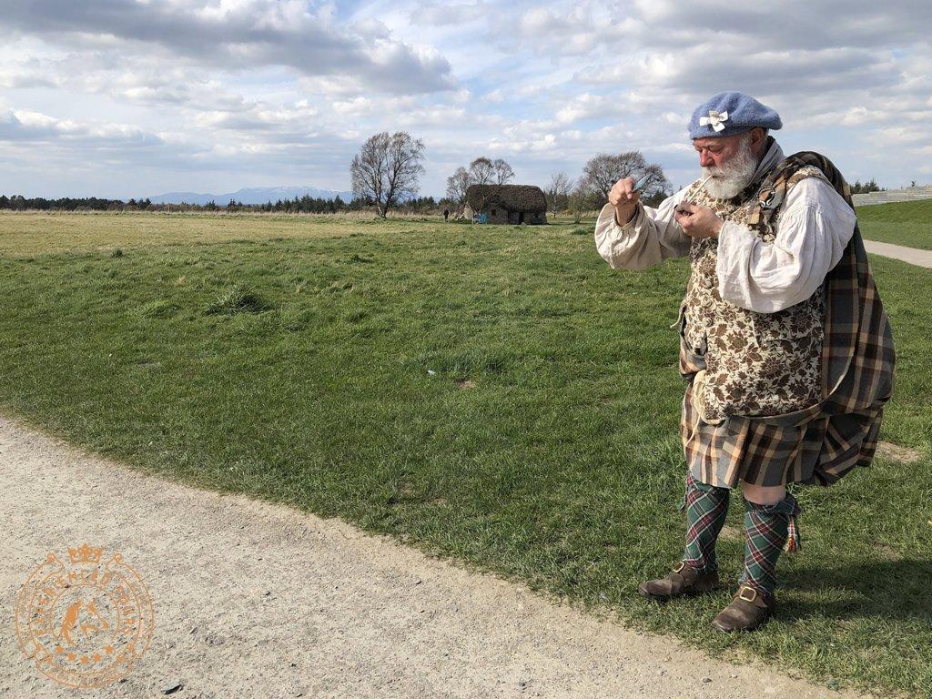 Reenactor at Culloden Battlefield