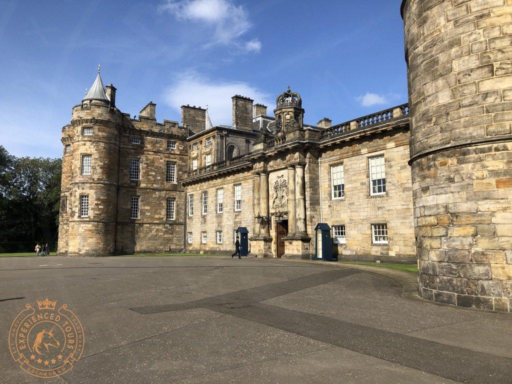 Entrance Courtyard at Holyrood Palace