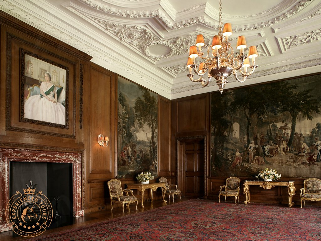 The Drawingroom inside the Palace of Holyroodhouse