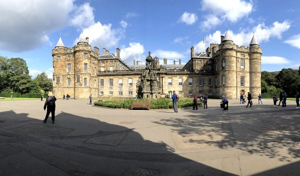 Panoramic view of The Palace of Holyrood Entrance Courtyard