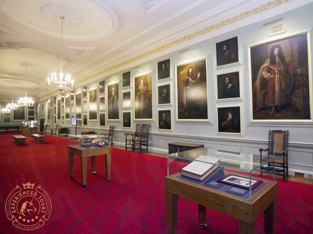 The Gallery Hall inside the Palace of Holyroodhouse