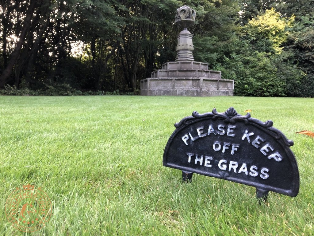 Please keep off the grass!