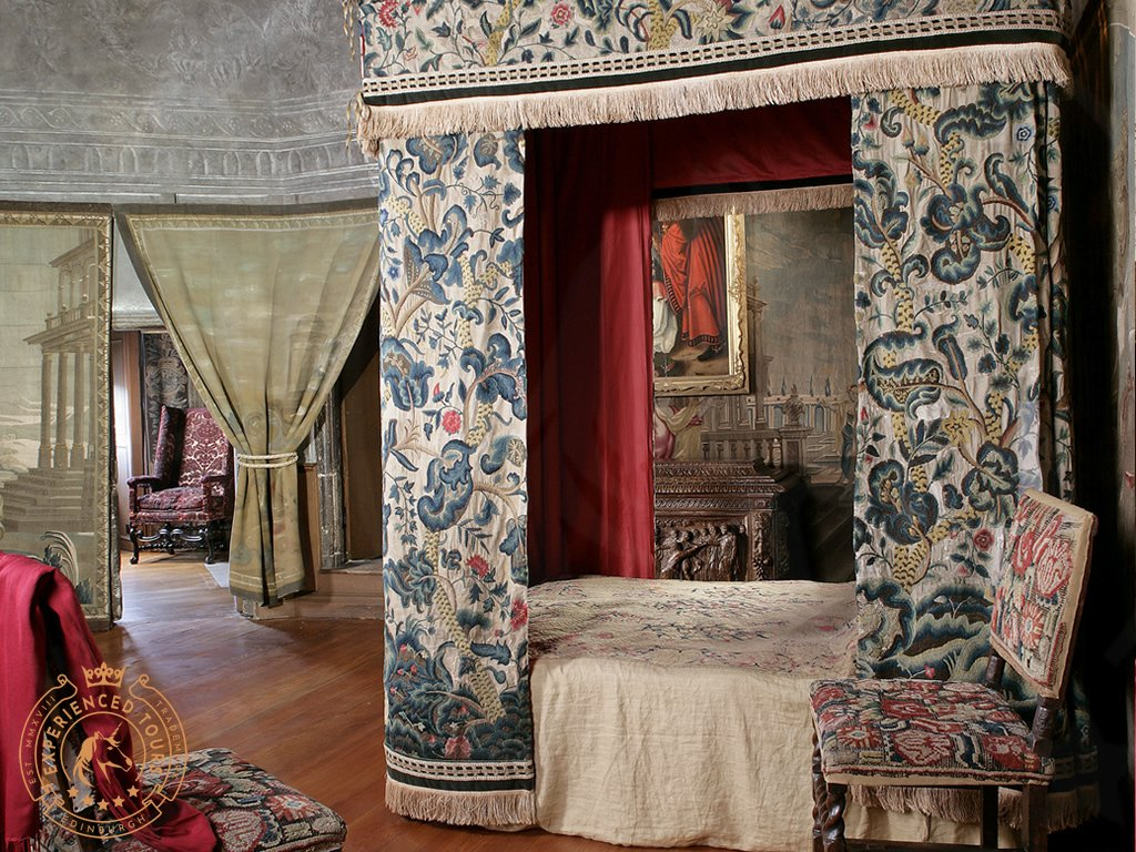 The Mary Queen of Scots Bedroom inside the Palace of Holyroodhouse