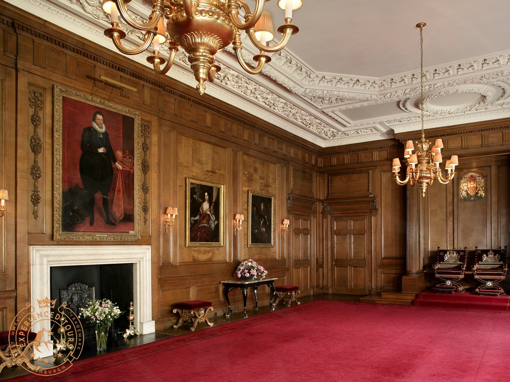 Throne Room inside the Palace of Holyroodhouse