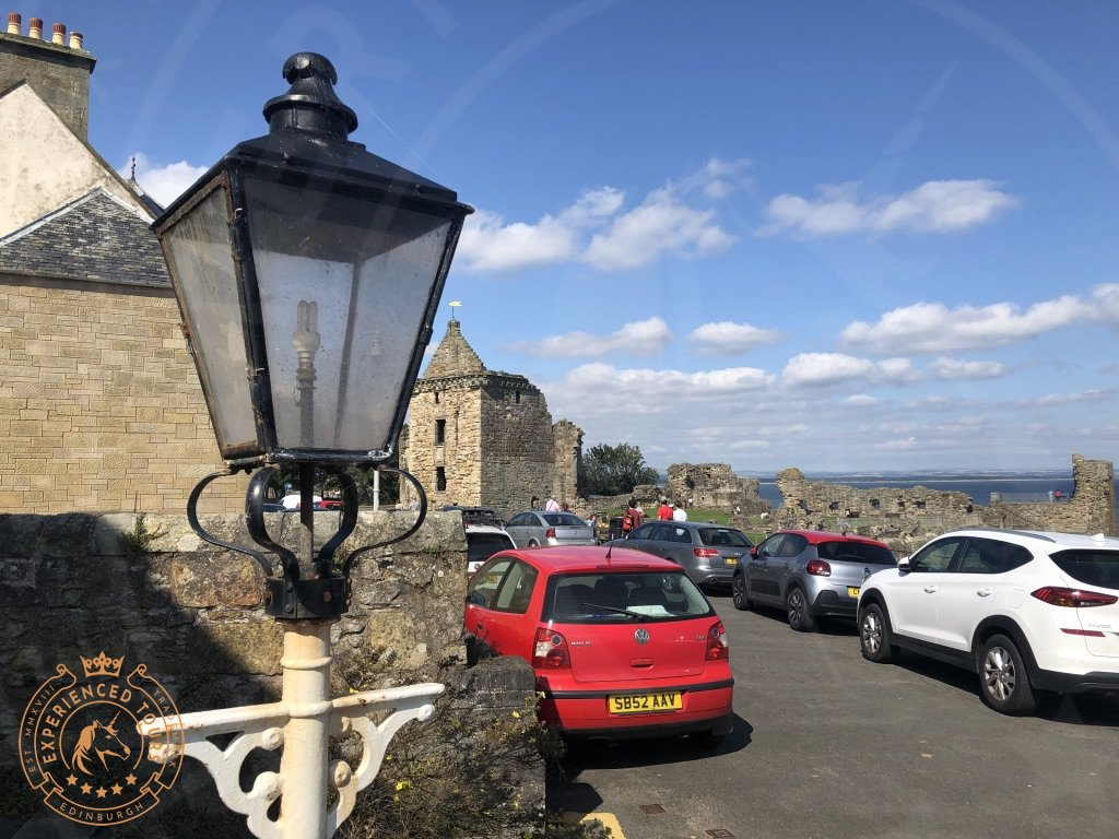 Old fashioned lamppost in St Andrews
