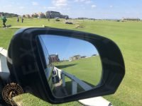 View across The Old Course from the tour van