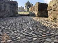 The Cobbles next to the water gate at St Andrews Castle