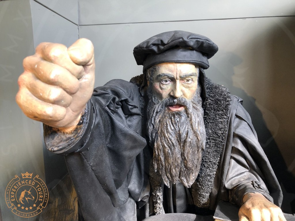 Depiction of John Knox in the Castle museum