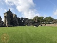Looking back towards the Archbishops lodgings at St Andrews Castle